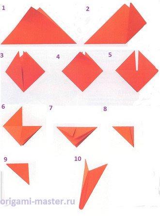 Базовый модуль из квадрата.