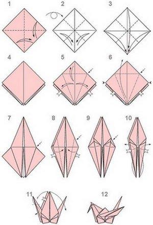 Оригами журавлик как его сделать 244