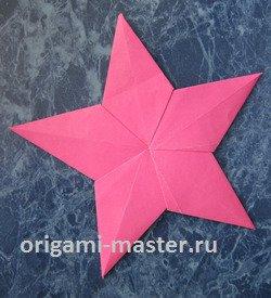 Как сделать пятиконечную звезду оригами
