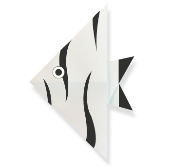 Оригами для детей рыбка Ангел