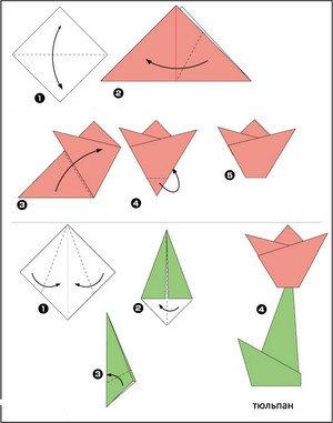 оригами поэтапно фото