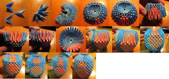 модульное оригами лунтик схема