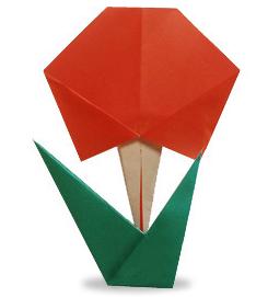 Оригами для детей цветок