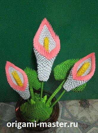 Модульное оригами пошаговая сборка цветов