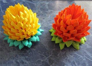 Как сделать цветок оригами лотос из бумаги: схемы.